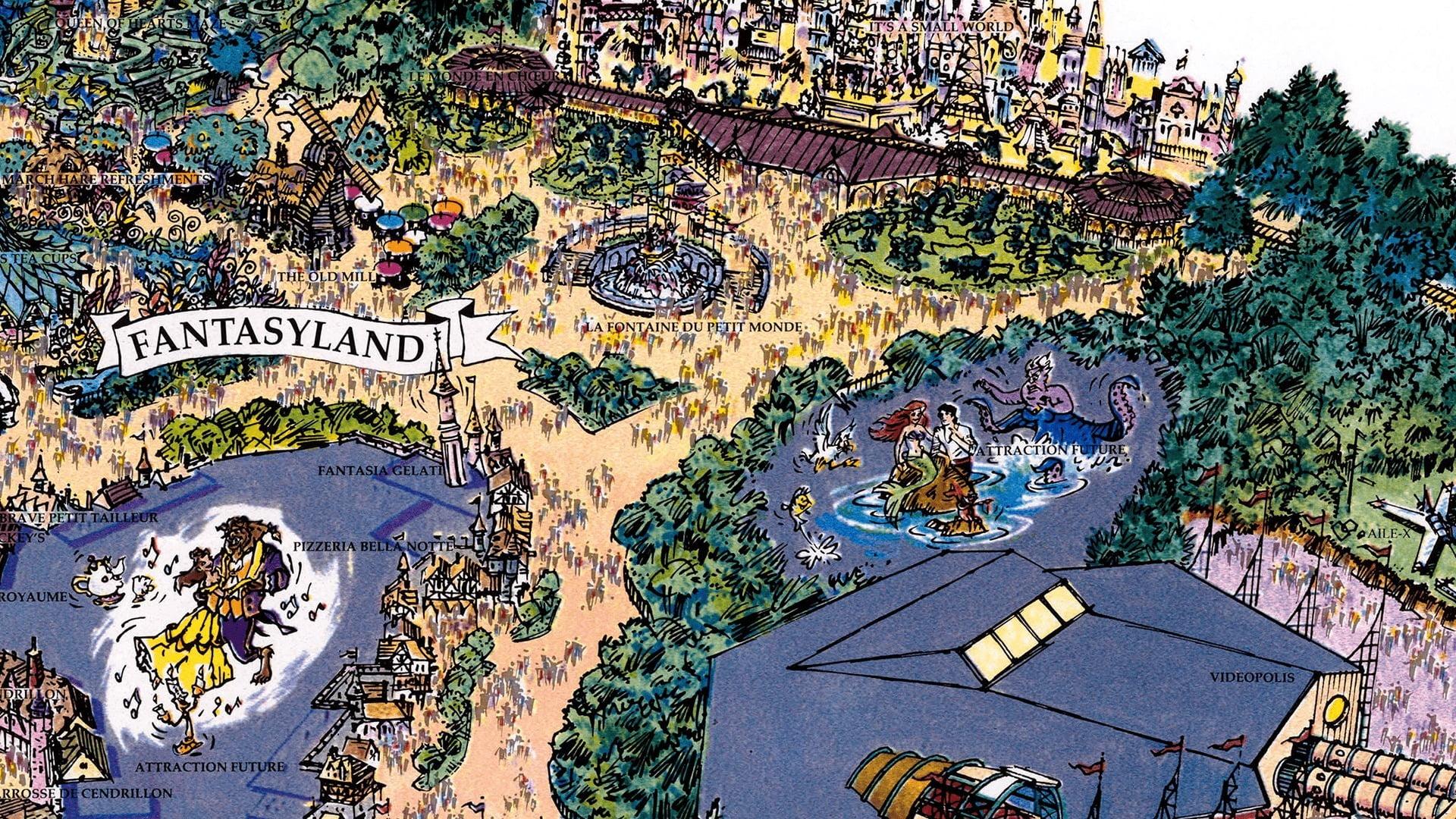 Disneyland Paris Fun Map - 1992