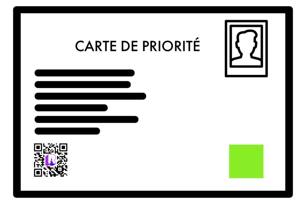 Carte de Priorité - Priority Card Disneyland Paris